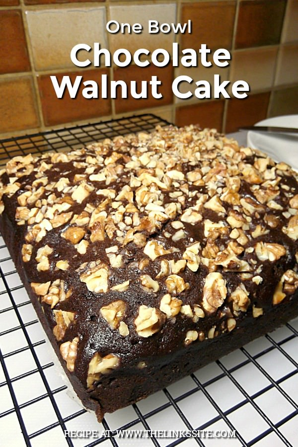 If you need a tasty chocolate cake that is quick and easy to make you can't go past this One Bowl Chocolate Walnut Cake! thelinkssite.com